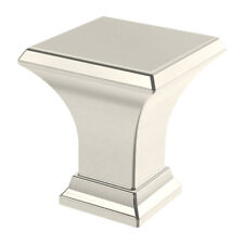 "Brainerd P37392W-PN-CP Square Refined 1"" Polished Nickel Cabinet Knob"