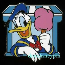 Disney Pin *Characters With Food* Booster Behind Counter - Donald Cotton Candy!