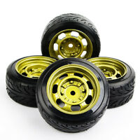 4Pcs Drift Tires&wheel 12mm Hex For HSP HPI RC 1:10 On-Road Racing Car 292/014