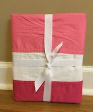 "NEW Pottery Barn Teen Color Block Shower Curtain PINK MAGENTA Monogram ""SOG"" **"