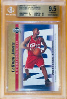🔥💎2003 LeBron James UPPER DECK PHENOMENAL BEGINNING GOLD RC #15 BGS 9.5 PSA