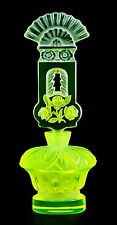 NEW URANIUM THREE ROSES WITH WINDOW - PESNICAK, Bohemian signed Perfume Bottle