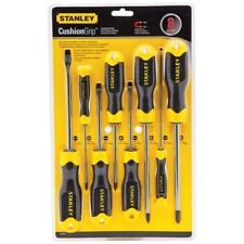 STANLEY Screwdriver Set Cushion Grip Magnetic Tip Multibit Hand Tool 8-Piece New