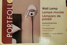 Portfolio Wall Reading Light Lamp Brushed Nickel Finish NEW in box!
