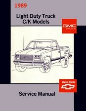 1989 Chevrolet GMC Truck Shop Service Repair Manual Engine Drivetrain Electrical