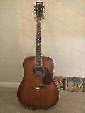 vintage solid spruce top accoustic guitar