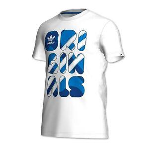 Adidas originals icon mens t shirt while blue S-L bnwt (SALE) REDUCED