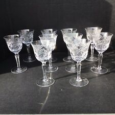 German Cut Crystal Wine Glasses - Set of 10.  Made in Germany.