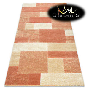Thick Best Quality Modern Design Densely Soft Rugs 'FEEL' Rectangles terracotta