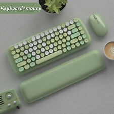 Retro Mini Bluetooth Wireless Keyboard Cute Round Key For PC Pad Smartphone Mice