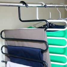 Portable Closet Organizer Space Saver Pants Hanger Rack Trousers Scarf  Holder
