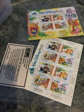 (2) Walt Disney Word Florida CANADA Stamps Booklet 45 cents Mail Poste Stamps