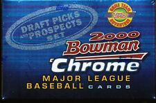 2000 BOWMAN CHROME DRAFT PICKS & PROSPECTS HTA SEALED BASEBALL FACTORY SET