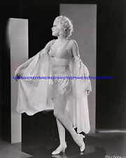 1930s ACTRESS JOAN MARSH IN BRA, SLIP AND DRESSING GOWN 8 X 10 PHOTO A-JMAR