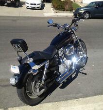 Detachable Backrest SissyBar Luggage rack Harley Davidson Sportster 2004 and UP