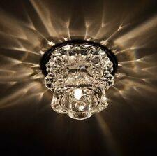 Hallway Dining Room Spotlights Light Fixture Small LED Crystal Ceiling Lighting