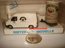 Rietze 80091 - Ford Transit Trailer Advertising Pilsener Mauritius - 1/87° Ho