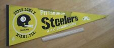 Pittsburgh Steelers vintage 1976 AFC Champions pennant NICE! Football Terry Brad
