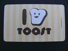 Frühstücksbrettchen I love Toast Brot Brettchen Brettchen Brett 23x14cm neu