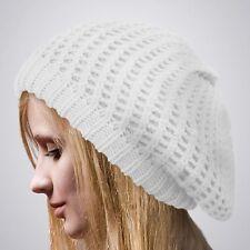 Beret Knit Slouchy Baggy Beanie Oversize Winter Hat Ski Slouchy Cap Skull Women
