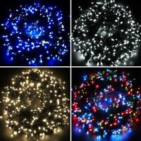 MAINS Powered LED Indoor OUTDOOR CHRISTMAS Tree Lights Xmas String Fairy UK Plug