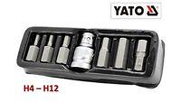 """7tlg Inbus Bitsatz 1/2"""" Profi-Qualität HEX Innensechskant H4-H12 Sechskant Bit"""