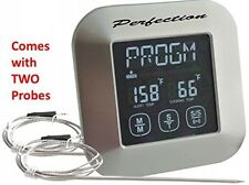 In-Oven In-BBQ Grill And Smoker Digital Meat Thermometer-Kitchen Timer-Instant