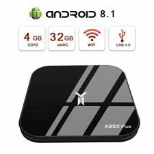 A95X Plus 4Gb + 32Gb Tv Box Android 8.1 Quad Core WiFi Bt4.24K Media Player