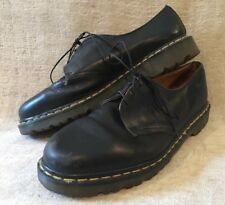DR DOC MARTENS England Made 3 Eye Black Leather Shoes US Mens 13 / UK 12 / EU 47