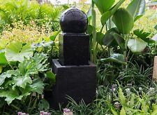 GRC Outdoor Garden Patio Water Feature Arian Cascade Ball Fountain Black