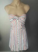 Cooper St Nautical Dress Size 8 strapless .