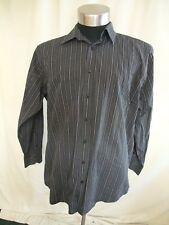 "Mens Shirt Jeff Banks grey/black stripes, collar 17 1/2"", chest 48"", formal 1942"