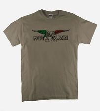 Moto Guzzi Italian Vintage Classic T-Shirt Biker Motorcycle Retro Putty Tee