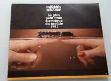CATALOGUE MARKLIN MINI-CLUB 1981 - TRAIN ELECTRIQUE HO 1/87