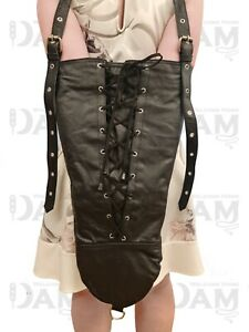 Real Leather Armbinder in  Black, FETISH, UK BASED, FAST SHIPPING