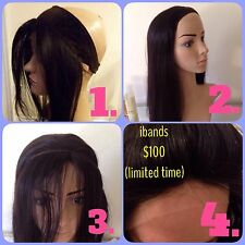 "14"" Lace Front Band iBand Wig Grip Baby Hair wear with Sheital Fall Human Hair"