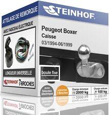 ATTELAGE fixe PEUGEOT BOXER Caisse 1994-1999 + FAISC.UNIV.7 broches COMPLET