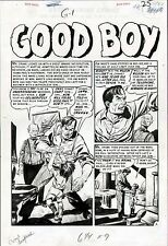 1955 EC COMICS GRAHAM INGELS CRIME SUSPENSTORIES #27 ORIGINAL ART SPLASH PAGE Comic Art
