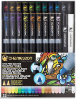 CHAMELEON DELUXE SET 22 Color Tones Pens NEW - NO PACKAGING - ALL 20 MAIN COLORS