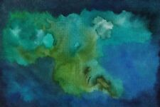 "UNDERWATER TREE OF LIFE Original Watercolor Painting 4""x6"" Julia Garcia OOAK NEW"