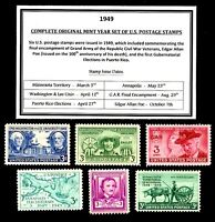 1949 COMPLETE YEAR SET OF MINT -MNH- VINTAGE U.S. POSTAGE STAMPS
