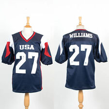 USA AMERICAN FOOTBALL JERSEY SHIRT TEAM GAME JERSEY WORN PADS ARMOUR L