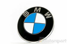 New BMW Emblem 82mm 2 Pin Front Hood or Rear Trunk Logo Badge Decal 51148132375