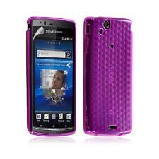 Housse coque étui gel damier transparent pour Sony Ericsson Xperia Arc / Arc S c