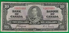 1937 Canada 10 dollar Bill C/T Coyne/Towers BC-24 C cutting error