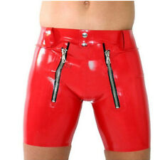 Sexy Latex Underwear Box Panties For Men With Crotch Piece Unique New Shorts
