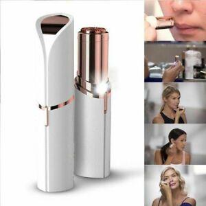 Womens Facial  / Eyebrow Hair Remover Pain Free Lips Cheeks Chin Battery Epilato