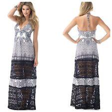 SKY Brand S Black/White KOKO Lace Panel Maxi Dress-NWT-$253.00-Small