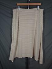 J Jill Skirt Size Large Stripe Handkerchief Asymmetrical Hem New