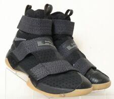 Nike 917338 LeBron Soldier 10 FlyEase Blk/Gray 3-Strap HT Sneaker Men's US 11.5